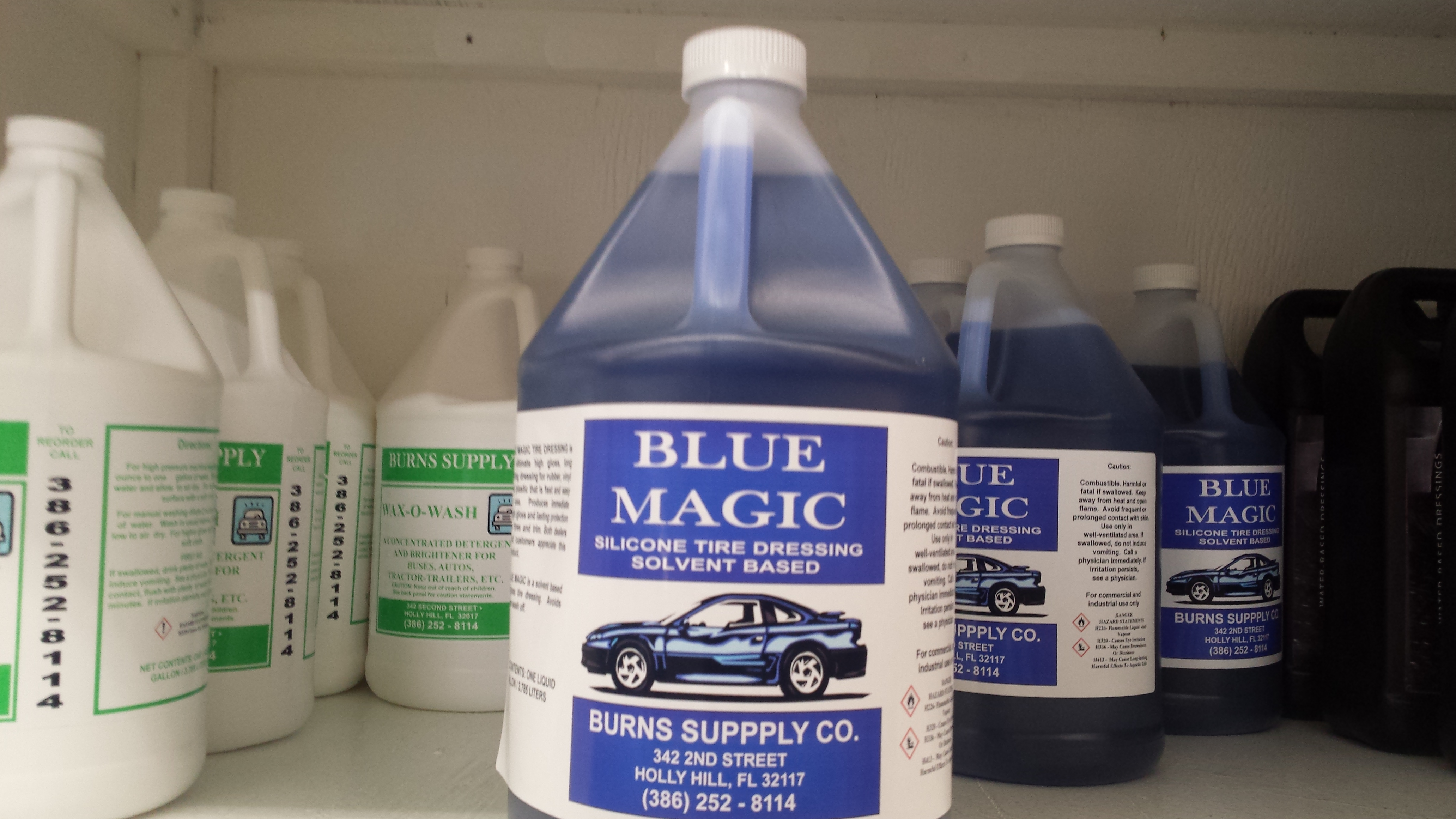 Blue Magic Solvent Silicon Tire Dressing Gallon