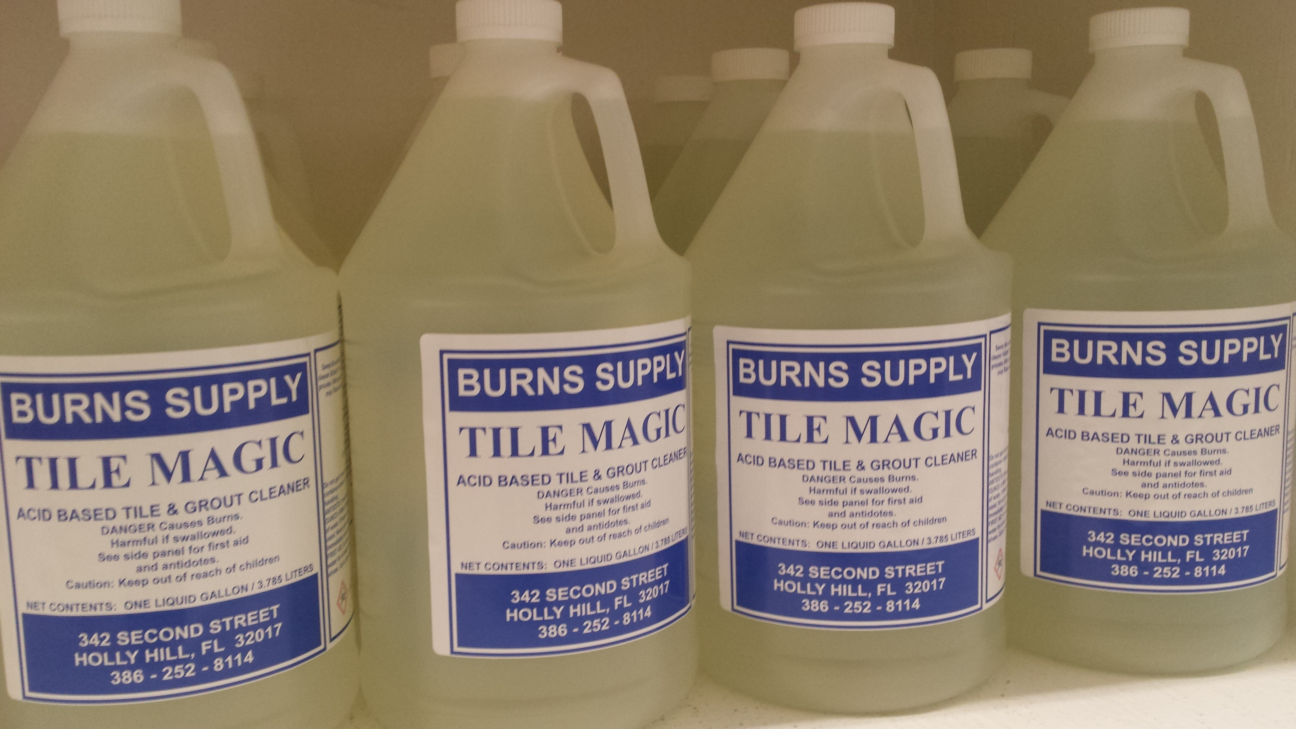Tile Magic Acid Tile And Grout Cleaner Gallon