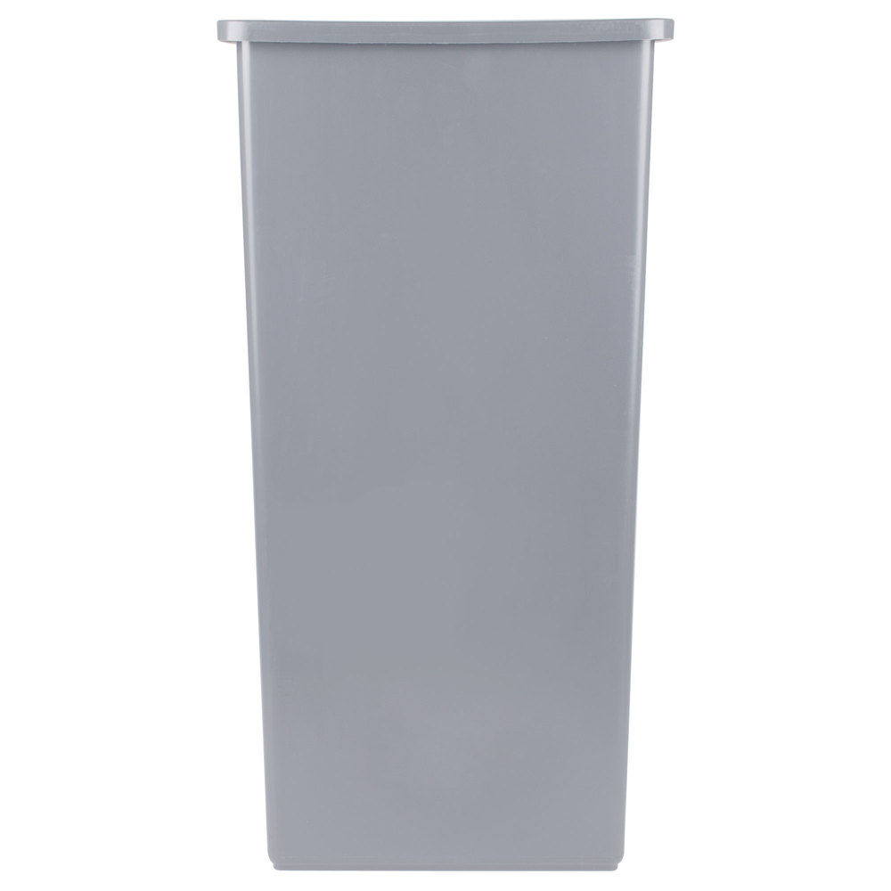 continental 32gy swingline 32 gallon gray square trash can