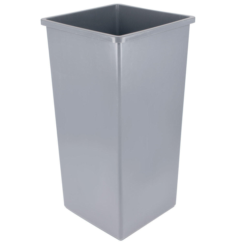home u003e janitorial supplies u003e trash cans u003e continental 32gy swingline 32 gallon gray square trash can