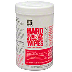 Spartan Hard Surface Disinfecting Wipes Lemon Scent