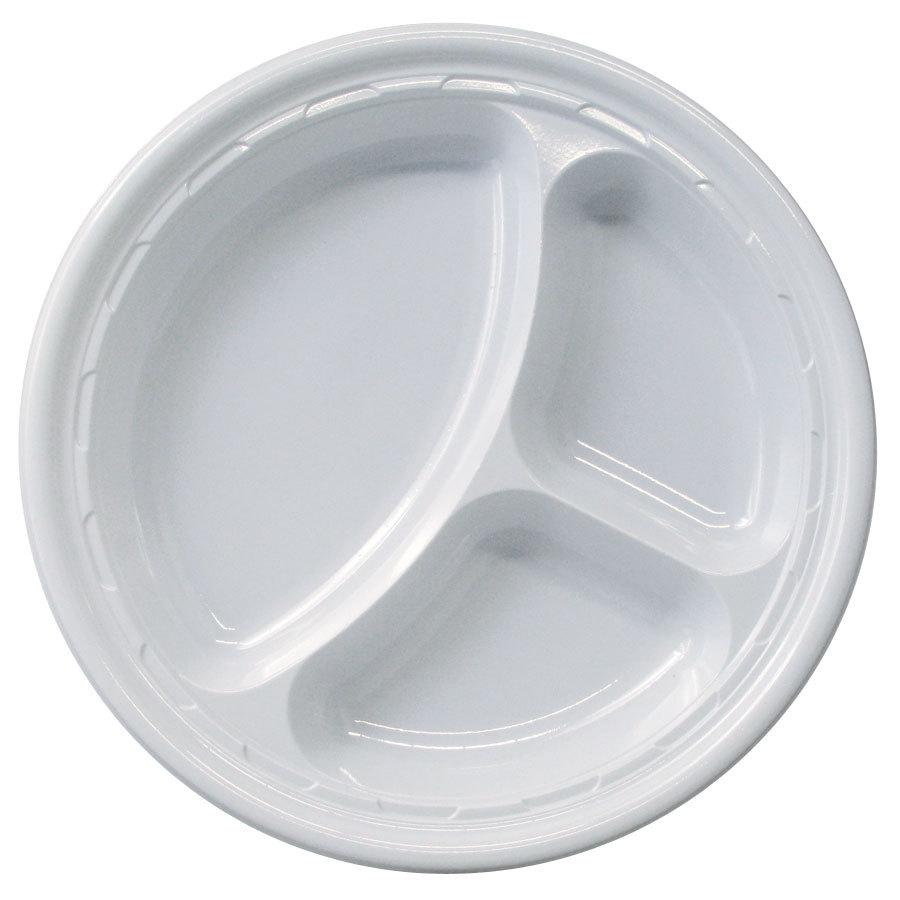 Plate Plastic 10 Quot Divided 500 Cs