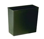 Continental 2927BK Fire-Resistant Wastebasket w/ 27-5/8-qt Capacity - Black