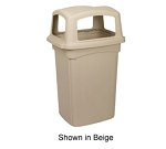 Continental 6564 BE 56-Gal Colossus Trash Can w/ 4 Doors, Beige