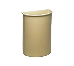 Continental 8321BE Half Round Wall Hugger Garbage Can - 21 Gallon Capacity - 21 3/4