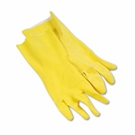 Boardwalk Large Yellow Flock-Lined Gloves 12/PK (BWK 242L)