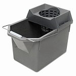 Rubbermaid Mop Pail/Strainer Combination, Steel Gray (RCP6194STL)