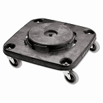 Rubbermaid 3530 Brute Square Dolly for 3526 & 3536 Containers, Black (RCP3530)