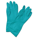 Boardwalk® Flock-Lined Nitrile Gloves, Medium, Green