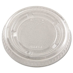 Dart Portion Cup Lids, 3.25-5.5oz Cups, Clear, 2500/cs (DCC400PCL)