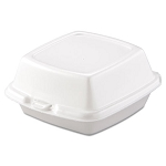 Dart Carryout Food Containers, Foam, 1-Comp, 5 7/8 x 6 x 3, White, 500/Carton