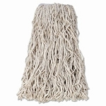 Mop Head, Cotton, Cut-End, White, 4-Ply, 32 oz.