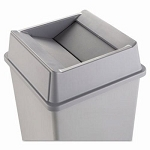 Rubbermaid Untouchable Square Swing Top Trash Can Lid, Gray (RCP2664GRAY) Fits 3958 & 3959