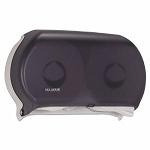 San Jamar R4000 Twin Jumbo Roll Toilet Paper Dispenser, Black (SAN R4000TBK)
