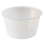 Fabri-Kal® Portion Cups, 4 oz., Clear, 125/Sleeve, 20 Sleeves/Carton (PC400PC)