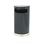 Rubbermaid SO810 Half-Round 9 Gallon Fire-Safe Trash Can (RCPSO810BPL)