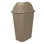 Rubbermaid® FG307120BEIG Untouchable 41 Qt Wastebasket / Lid Combo