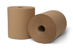 WausauPaper® EcoSoft® Controlled Roll Towels, Natural, 31500, 8'' x 630', 6 rolls