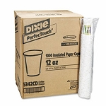 PerfecTouch 12-oz. Insulated Paper Hot Cups, 1,000 Cups (DIX5342CD)