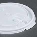 Dart Solo 12, 16 , and 20 oz. White Plastic Tab Lid - 1000/Case (SCCTPL316)