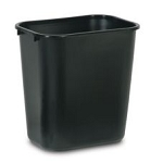 Continental Commercial Plastic Wastebasket - 13 5/8 Qt.