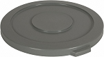 32 Gallon Recycling Container Lid Trash Round Gray Fits 3200