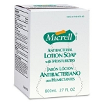Gojo 975606 Micrell 800 mL Antibacterial Lotion Soap Refill - 6/CS