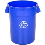 Continental 32 Gallon Blue Recycling Trash Can