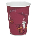 Solo Bistro Design Hot Drink Cups 8 oz. - 1000/cs (SCC378SI)