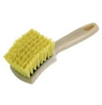 Crimped Cream Color Poly Sidewall Brush