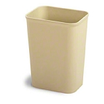 Continental Wastebasket 14 qt Rectangle Fire Resistant Sand