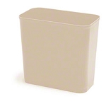 Continental UL Classified Rect. Wastebasket-27 5/8 Qt.,Sand