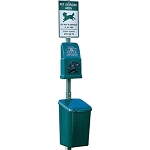 Dogipot 1010 Poly Pet Waste Station with Aluminum Post