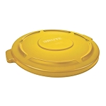 BRUTE 44 Gal. Yellow Round Vented Trash Can Lid (RCP 26450 YEL)