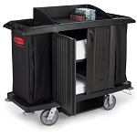 Rubbermaid Full Size Housekeeping Cart With Doors (6191BLA)