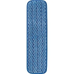 Rubbermaid HYGEN™ Microfiber Damp Mop Pad, Wet, Blue, 18
