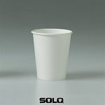Solo White Poly Paper Hot Cup - 10 oz. - 1000/cs (SCC370W)