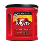 SMU 00367 Folgers Coffee, Classic Roast Regular, Ground, 33.9 oz., Can