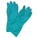 Boardwalk® Nitrile Flock-Lined Gloves, X-Large, Green