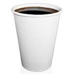 Solo Polycoated Hot Paper Cups 8 oz., White, 50/Bag (378W-2050)
