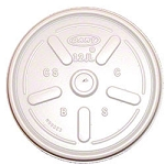 Dart Plastic Lids, for 12 oz. Hot/Cold Foam Cups, Vented, 1000/Carton (DCC12JL)