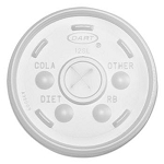 Dart Plastic Lids, for 12-oz. Hot/Cold Foam Cups, 1000 per Carton (DCC12SL)