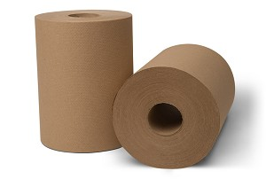 WausauPaper®  EcoSoft® Controlled Roll Towels, Natural, 31060, 8'' x 550', 6 rolls