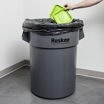 Continental Huskee 55 Gallon Gray Trash Can