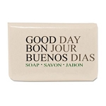 Good Day Amenity Bar Soap, Pleasant Scent, 3/4 Oz, White, Wrapped, 1000/cs