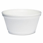 8 oz - Dart Foam Container - White - 1000/Carton