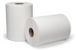 WausauPaper® DublNature® Controlled Roll Towel, White, 8'' x 450', 12 rolls
