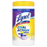 Lysol® Brand Disinfecting Wipes - Citrus Scent - Dual Action Wipes - 80/Tub; 6 tubs in a case