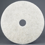Natural Blend White Light -                 Duty Burnishing Floor Pad