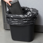 Continental 28 Qt. / 7 Gallon BLACK Rectangular Wastebasket